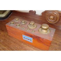 Cepo Antigo, Com 9 Pesos Em Bronze