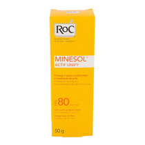 Protetor Solar Roc Minesol Actifi Unify Fps 80 50g Gel Creme