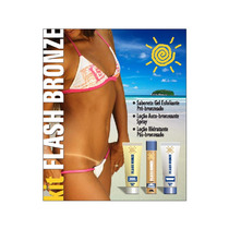 Kit Bronzeamento Flash Bronze + Esfoliante +pós Bronzeamento