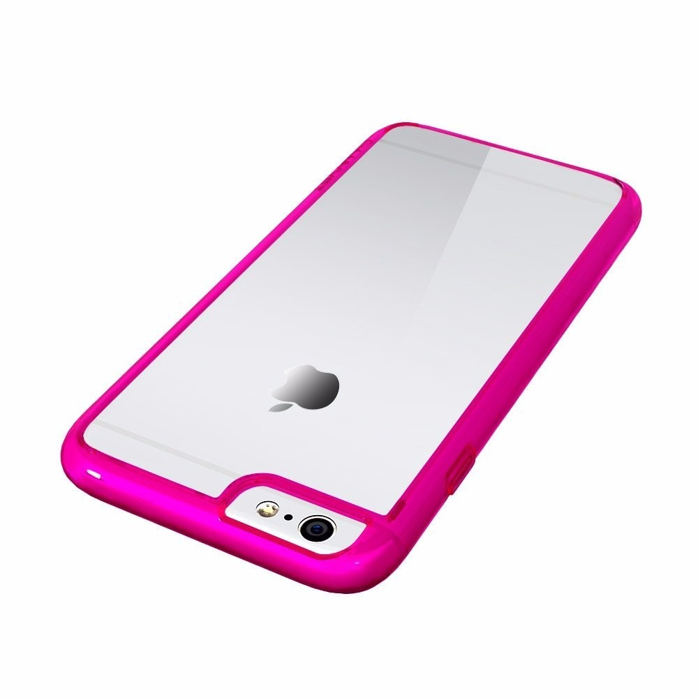 bumper case iphone 6 4 7 luvit fundo transparente pink r 99 90 no mercadolivre. Black Bedroom Furniture Sets. Home Design Ideas
