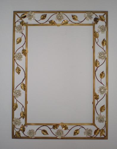 Artesanato Indiano ~ Ca029 Moldura Para Espelho M Artesanato Em Ferro Mg R$ 456,50 no MercadoLivre