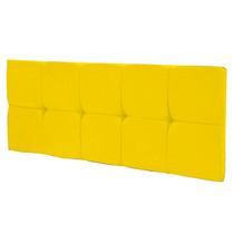 Painel Cabeceira Cama Box Casal 1,60m Quarto Suede Amarelo
