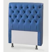 Cabeceira Para Cama Box Solteiro 1,00 Largura Azul