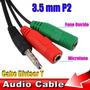 Cabo Adaptador Microfone E Fone Para Celular E Notebook