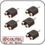 Plug Adaptador P2 Stereo De Fone De Ouvido Para 2 Rca Femea