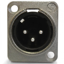 5 Conector Plug Painel Xlr Macho Canon Santo Angelo P Medusa
