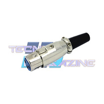 Plug Xlr Conector Cannon Femea Cabo Microfone Dmx Mesa Som