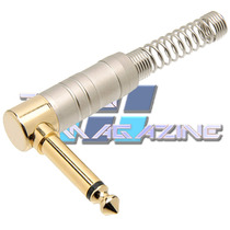 Plug P10 Conector L Goldpro 90 Graus Tipo St Angelo Amphenol