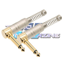 Kit 2 Plugs P10 Conector L 90 Graus Tipo St Angelo Amphenol