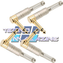 Kit 4 Plugs P10 Conector Gold L 90 Graus Profissional Pedal