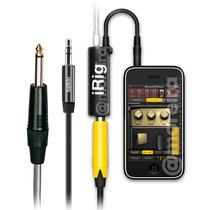 Kit Adaptador Irig + Cabo P2 X P10 2mt Guitarra Amplificador