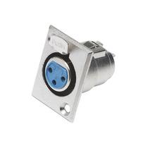 Plug Xlr Conector Cannon Femea Painel Microfone Dmx Mesa Som