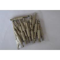 Kit C/ 25 Plugs P10 Mono Csr Com Isolamento De Fenolite