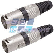 Kit 2 Plugs Xlr Macho Canon P Cabo Microfone Dmx Mesa De Som