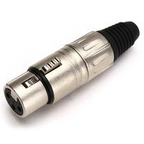Conector Plug Xlr Canon Santo Angelo Fêmea De Linha L3fnn01
