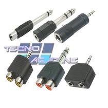 6 Plug Adaptador Conector Rca Femea P10 P2 J10 J2 Duplicador