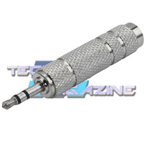 Plug Adaptador P10 J10 Femea P/ P2 Macho Stereo Auxiliar Som