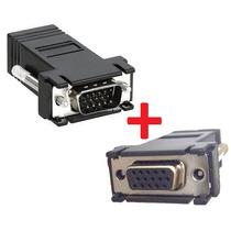 2 Pç Adaptador Conector Vga X Cabo De Rede Rj45 [ M E F ]