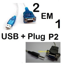 Cabo Serial Rs232 Db9 Null Femea X P2 Serial Recovery + Usb
