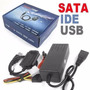 Cabo Adaptador Usb 2.0 Ide Sata Hd Dvd Conversor Pc C/ Fonte