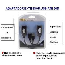 Adaptador Extensor Rj45 Usb 50 Metros (liga O Mouse No Dvr)