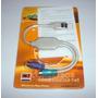 Cabo Adaptador Conversor Usb 2 Portas Ps2 Teclado E Mouse