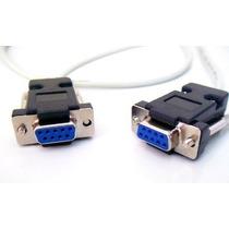 Cabo Serial Rs232 Db9 Null-modem Femea X Femea /atualizações