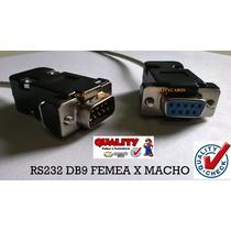 Cabo Rs232 Db9 Femea X Macho Recovery/atualizações + Frete