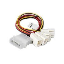 Adaptador Multi-fan 4 Entradas 3p P/ 4 Pinos Conector Fonte