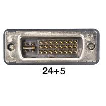 Conversor Conector Monitor Vga Fêmea Para Dvi I 24+5 Macho