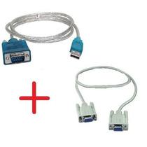 Cabo Serial Usb +cabo Null Modem Db9 Femea Rs232 Atualização