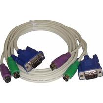 Cabo P Chaveador Kvm Switch Pc Teclado Mouse Ps2 Monitor Vga