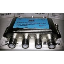 Kit 5 Chaves Comutadoras Sky 3x4 Substitui Diseqc Diplexer