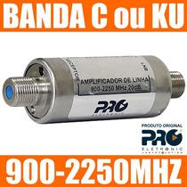 Amplificador Sinal Satelite Antena Parabolica Banda C Ou Ku