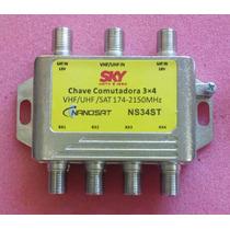 Chave Comutadora 3x4 - Diplexer - Divisor-caixa Com 100 Un