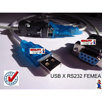 Cabo Rs232 Db9 Null Femea X Usb Recovery (para Notebook) !