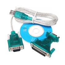 Cabo Conversor Usb P/ Serial Rs 232 + Adaptador Db9