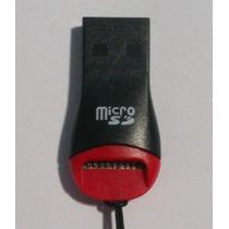 Leitor Adaptador Pen Drive Usb Cartão Micro Sd M2