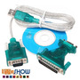 Kit 10 Cabos Adaptador Conversor Usb Serial Rs232 Paralelo