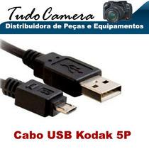 Cabo Usb 5p Kodak Z5120 Slice Pockt Playsport Zx3 Zx5 Zi10