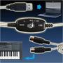 Cabo Midi X Usb Interface Audio Suporte Adaptador Conversor