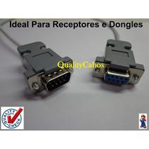 Cabo Rs232 Db9 Fêmea X Macho Para Receptores E Dongles