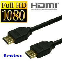 Cabo Hdmi 5 Metros 3d 1.4 Gold Premium 1080p Ps3 Led Lcd