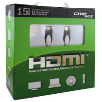Cabo Hdmi 15 Metros 1.4 High Definition - Ultra Hd Chip Sce