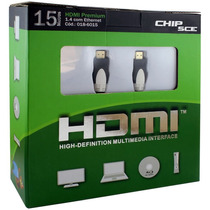 Cabo Premium Hdmi 15 Metros 1.4 3d/4k 10.2gbps - Chip Sce