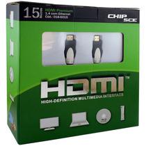 Cabo Hdmi Premium 15mt 1.4/3d/4k 10.2gb/s - Chip Sce
