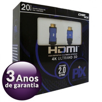 Cabo Hdmi 20 Metros 2.0 4k Ultra Hd 3d 19 Pinos 018-2020