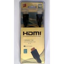 Cabo Hdmi 2m 1.4 3d Full Hd 1080p P/ps3 Ps4 Xbox360 E Pc !!