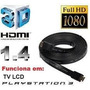 Cabo Hdmi Speed 2m 1.4 3d Full Hd 1080p P/ Tv Pc Games...!!!