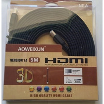 Cabo Hdmi X Hdmi 5 Metros Full Hd 1080p Banhado A Ouro